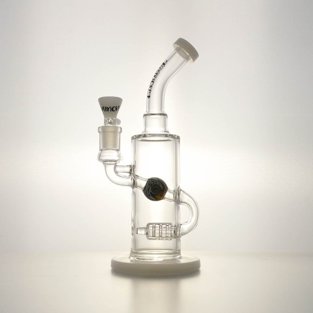 Diamond Glass Wigwag Marble Di Fused Bong 420paradise